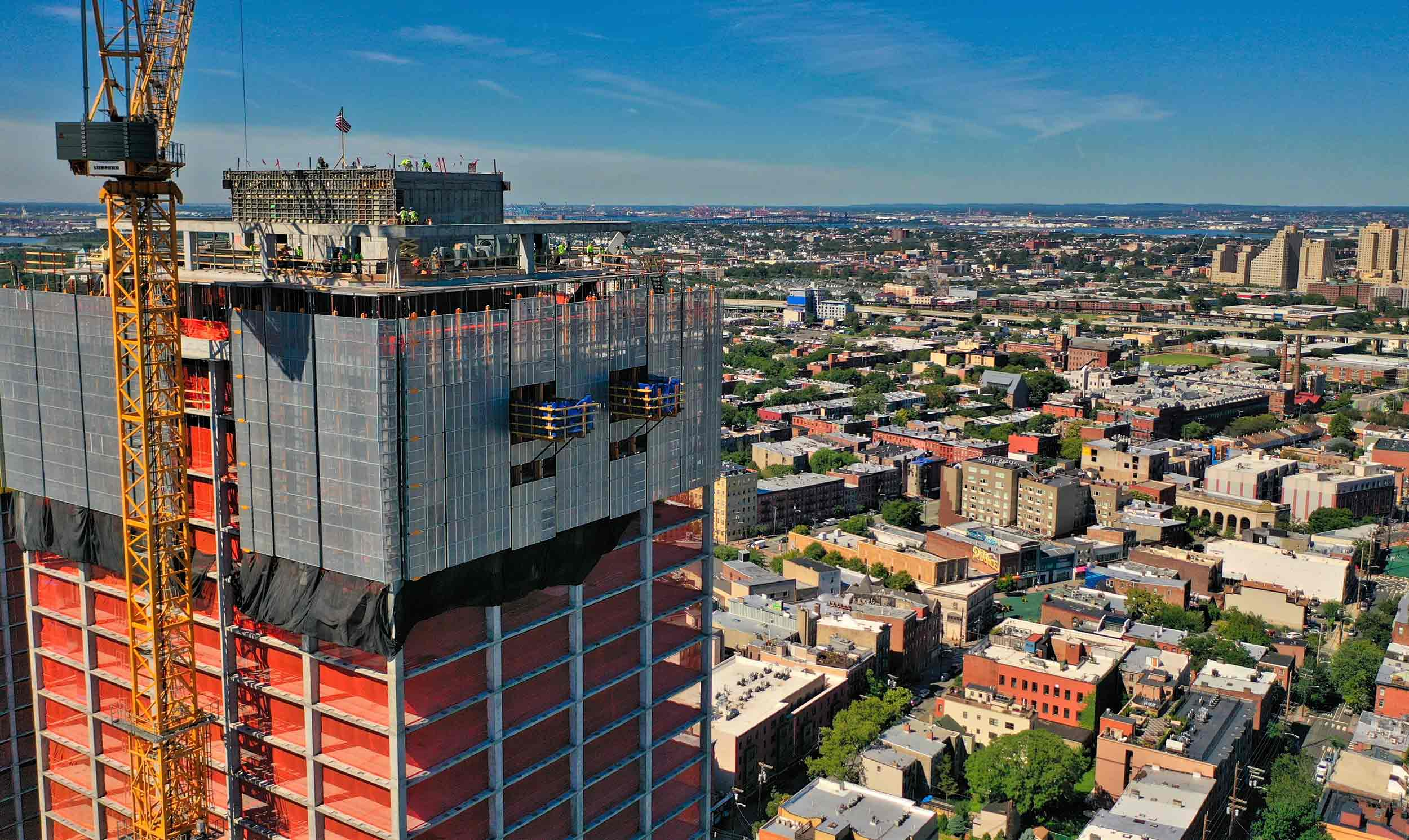351 Marin Blvd. is a mixed-use project located in the heart of downtown Jersey City in New Jersey. The tower will have 507 apartments, including 8,000 ft2. of commercial space.