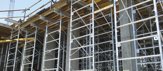MEGAFRAME in high-floor shoring application