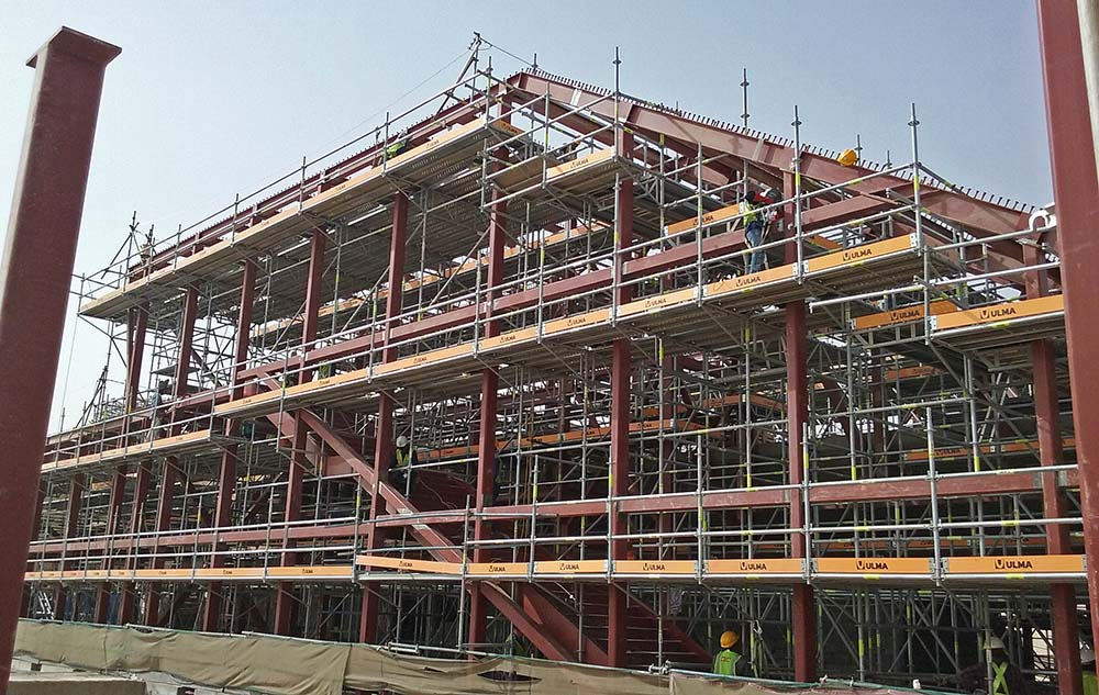 Comprehensive formwork and scaffolding systems at Riyadh
