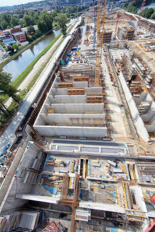 Formwork and Scaffolding ULMA for the largest Water Treatment Plant in all of Central Europe