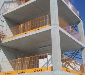 Anti-fall safety system for concrete structures and different ULMA formwork systems