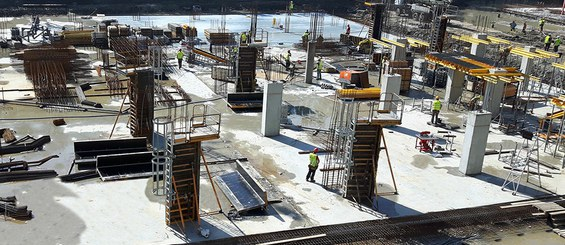 Cost-efficient and safe system for column construction