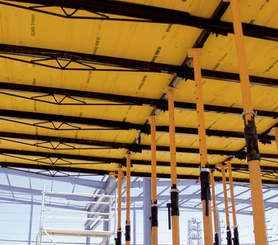 RAPID slab formwork main components: main beams, secondary beams and recoverable heads