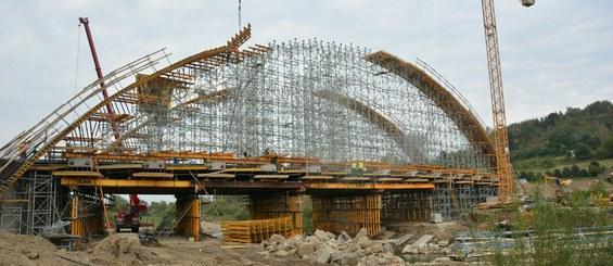 Bridge over Stradomka River, Bochnia, Poland