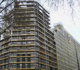 DORPA scaffolding in irregular façades