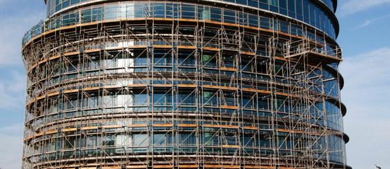 DORPA scaffolding in circular façades