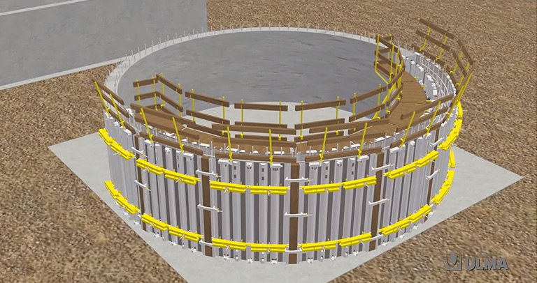 Adjustable Circular Formwork BIRAMAX