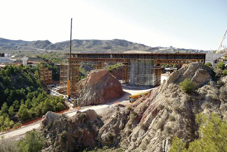 HSRL Alicante - Murcia, Monforte de Cid Viaduct