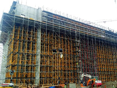 MK Shoring System demonstrates its high load-bearing capacity in the construction of the Waste Conversion Plant in Pavia