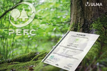 ULMA is awarded the PEFC certificate in Spain in recognition of its commitment to the environment