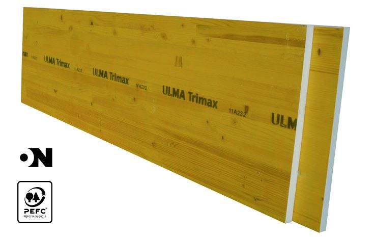 Three-layer plywood